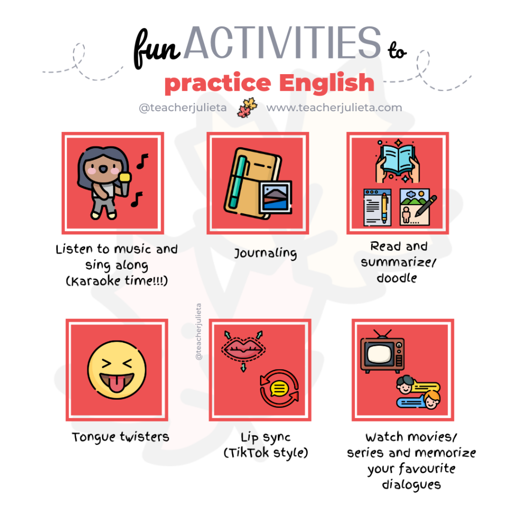 fun activities to improve your English